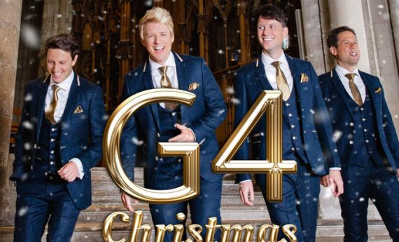 G4 in Blue Suits with Christmas